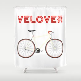 VeLover – Racer – June 12th – 200th Birthday of the Bicycle Shower Curtain
