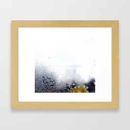 Frost abstract Framed Art Print