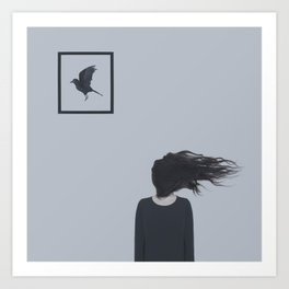The One Who Couldn't Fly Away Art Print