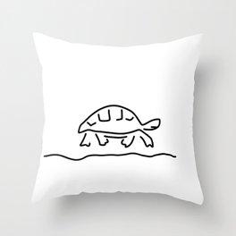 tortoise reptiles tank Throw Pillow