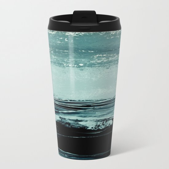 abstract minimalist landscape 4 Metal Travel Mug