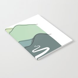 Foggy hills (shades of green) Notebook