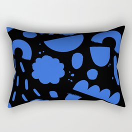 Geo Shapes Party Blue Rectangular Pillow