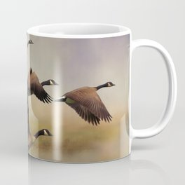 Geese On A Foggy Morning Coffee Mug