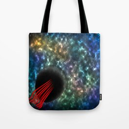Lighting universe with red sticks Tote Bag