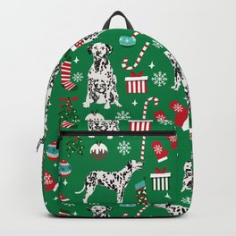 Dalmatian dog breed christmas holiday presents candy canes dalmatians dogs Backpack