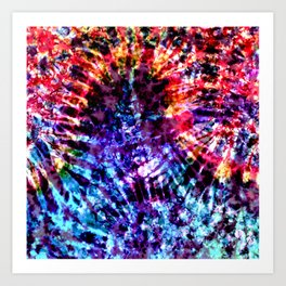 Day To Night Tie Dye Art Print