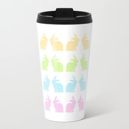 LOVELY COLORFUL EASTER BUNNIES Travel Mug