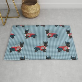 Scottish Terrier dog breed custom pet portrait funny dog pattern dog gifts all breeds Rug