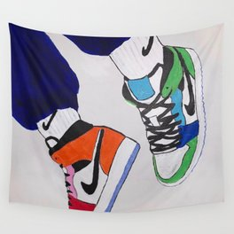 Sneaker Colorful Air Jordan 1's Wall Tapestry
