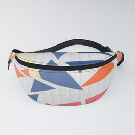 Colorful geometric pattern V Fanny Pack