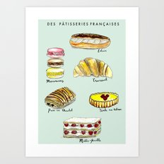 Des Patisseries Francais Art Print