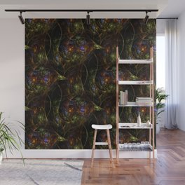 Wormhole Flame Fractal Wall Mural