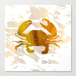 Colorful Art Crab Abstract Canvas Print
