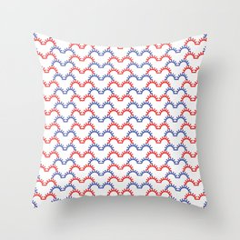 heartbeat pattern Throw Pillow