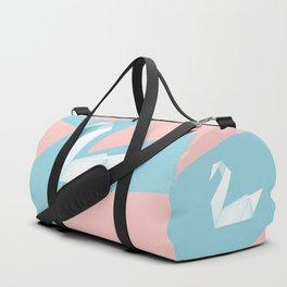 Simple origami swan Duffle Bag