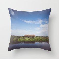 Narew River Throw Pillow