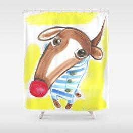 George Hound (Bright) Shower Curtain
