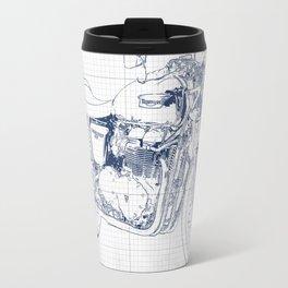 Triumph motorcycle blue and grey, giftforman,christmas gift Travel Mug