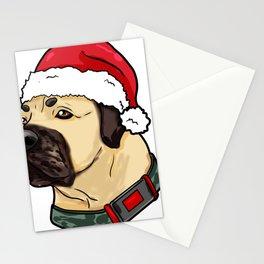 Mastiff Dog Christmas Hat Present Stationery Cards