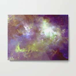 Purple & Gold Metal Print