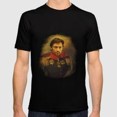 Hugh Jackman - replaceface Black MEDIUM Mens Fitted Tee
