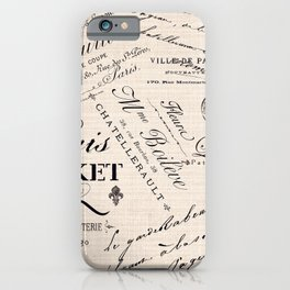 Paris Market 2 iPhone Case