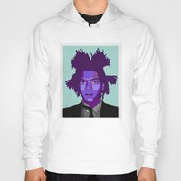 basquiat Hoodies featuring Basquiat by Grace Teaney Art