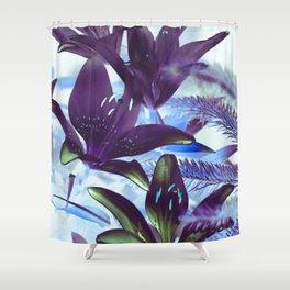Moonlight Lillies Shower Curtain