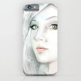 Snow Lady - Soft Pastel Portrait iPhone Case