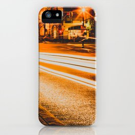 Time Lapse / Photography / Streetlights / Night iPhone Case