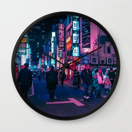 Take A Walk Under The Neon Wall Clock
