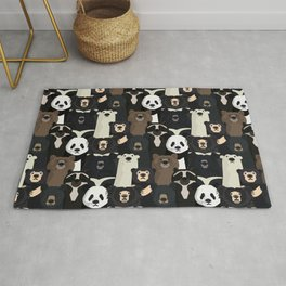 Bears of the world pattern Rug