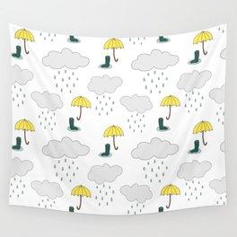 Rainy Day Pattern Wall Tapestry