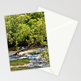 Beautiful river running over rocks Stationery Cards