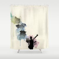 niall horan Shower Curtains featuring Niall Horan by bellavigg