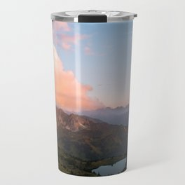 Mountain lake in Germany with Moon - landscape photography Travel Mug