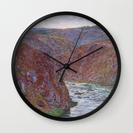 Valley of the Creuse (Gray Day) Wall Clock