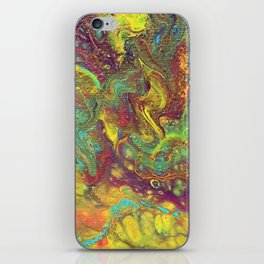 Acrylic Pouring #5 iPhone Skin