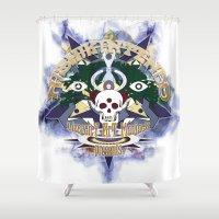 logo Shower Curtains featuring logo by Alexandr Nishikin