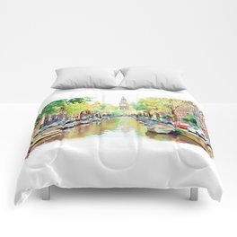 Amsterdam Canal 2 Comforters