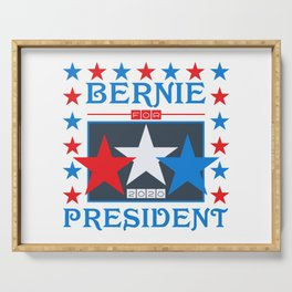 Bernie for President 2020 Stars Serving Tray