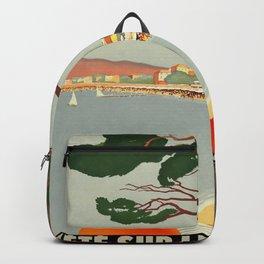 Vintage poster - Cote D'Azur, France Backpack