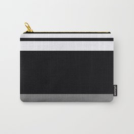 Team Colors 9...Black, white and gray Carry-All Pouch