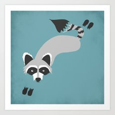 Robby Raccoon Art Print