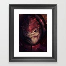 Mass Effect: Urdnot Wrex Framed Art Print