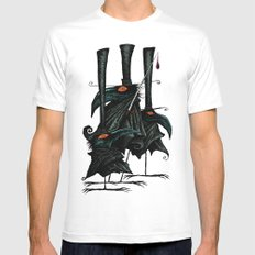 Murder of Crows Mens Fitted Tee White MEDIUM