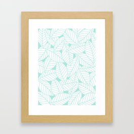 Leaves in Ocean Framed Art Print