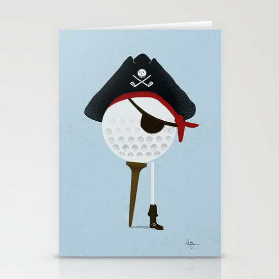 Pirate of the Open Tees Stationery Cards