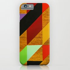 triangles on wood Slim Case iPhone 6s